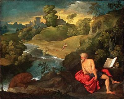 Saint Jerome In The Wilderness Poster by MotionAge Designs