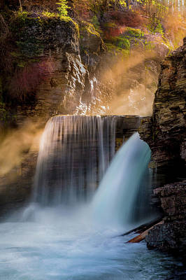 Poster featuring the photograph Saint Mary Falls // Glacier National Park  by Nicholas Parker