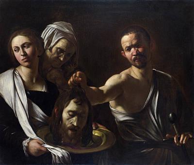 Salome Receives The Head Of Saint John The Baptist Poster
