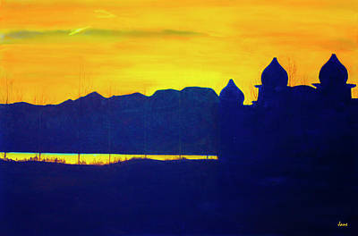 Saltair Sunset Poster by Jane Autry
