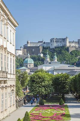 Salzburg Wonderful View To Salzburg Fortress Poster