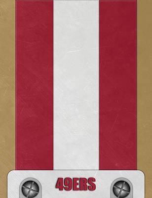 San Francisco 49ers Helmet Art Poster by Joe Hamilton