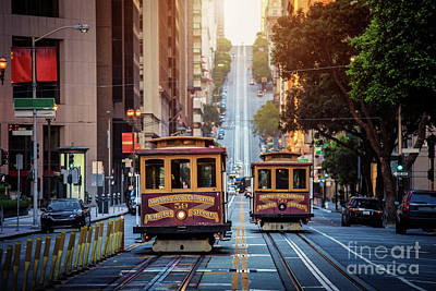 San Francisco Cable Cars Poster by JR Photography