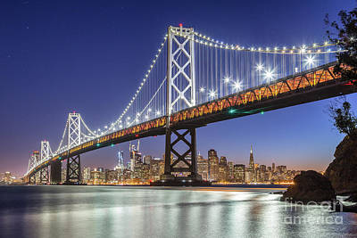 San Francisco City Lights Poster by JR Photography