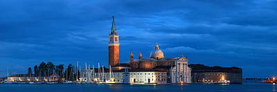 Poster featuring the photograph San Giorgio Maggiore Church Night by Songquan Deng