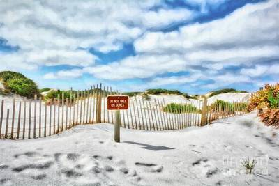 Poster featuring the photograph Sand Dunes At Grayton Beach # 4 by Mel Steinhauer