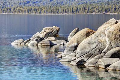Sand Harbor Lake Tahoe Poster by Marv Vandehey