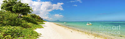 Sandy Tropical Beach. Panorama. Poster by MotHaiBaPhoto Prints