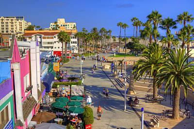 Santa Monica Beach Poster by Ricky Barnard