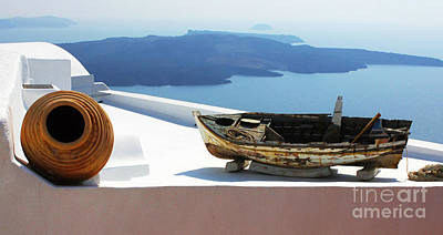 Poster featuring the photograph Santorini Greece by Bob Christopher