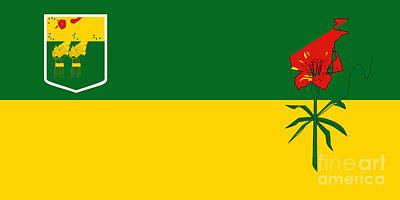 Saskatchewan Flag Poster by Frederick Holiday