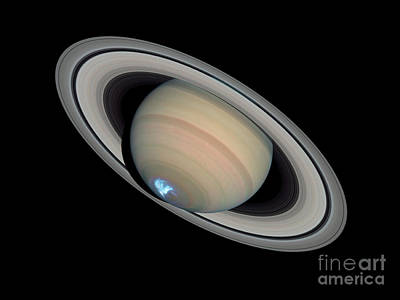 Saturns Dynamic Aurora Poster