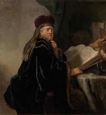 Scholar At His Study Poster by Rembrandt van Rijn