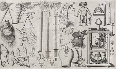 Science Illustrations, 17th Century Poster by Middle Temple Library