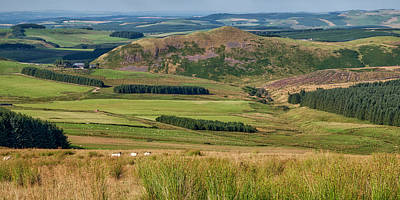 Scotland View From The English Borders Poster by Jeremy Lavender Photography