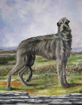 Scottish Deerhound Poster