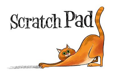 Scratchy Cat Poster by Trevor Irvin