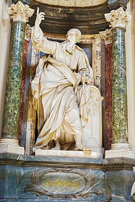 Sculpture In Basilica Of Saint John Lateran In Rome, Italy. Poster by Marek Poplawski