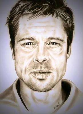 Se7en Brad Pitt Poster by Fred Larucci