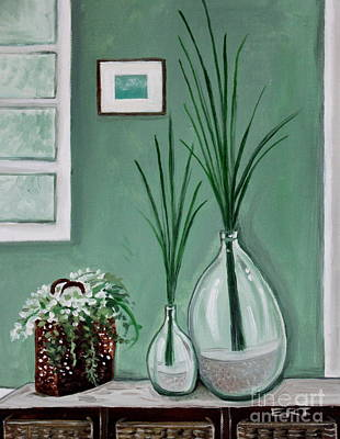 Poster featuring the painting Sea Grass by Elizabeth Robinette Tyndall