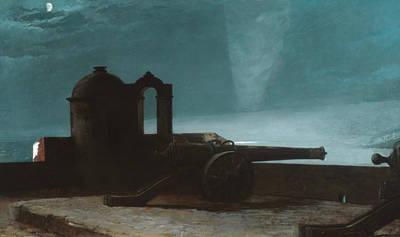 Searchlight On Harbor Entrance, Santiago De Cuba Poster by Winslow Homer