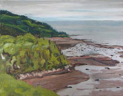 Seascape Oil Painting The Dunestadoussac Quebec Canada Poster