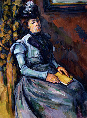 Seated Woman In Blue Poster