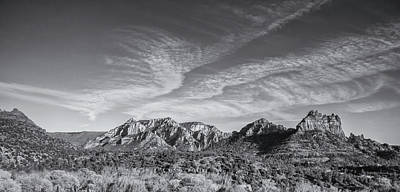 Sedona - Black And White Poster by Greg Thiemeyer