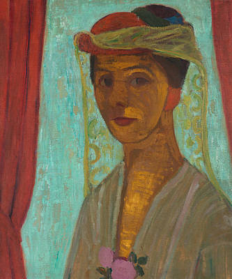Self-portrait With Hat And Veil Poster by Paula Modersohn-Becker