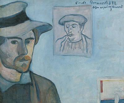 Self-portrait With Portrait Of Gauguin Poster