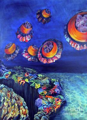Luminescent Jellyfish Poster by Jennifer Wysocki