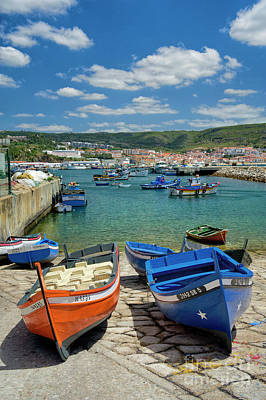 Sesimbra Boats Poster by Mikehoward Photography