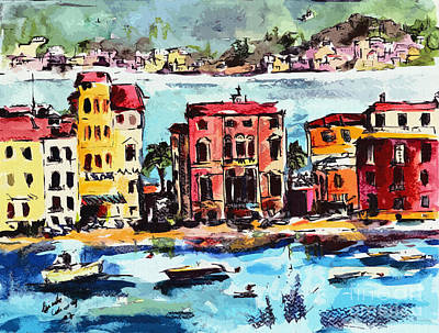 Sestri Levante Italy Bay Of Silence Poster by Ginette Callaway