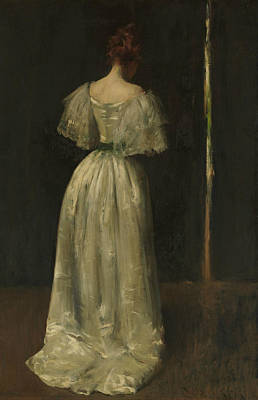 Seventeenth Century Lady Poster by William Merritt Chase