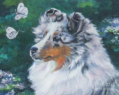 Shetland Sheepdog Poster by Lee Ann Shepard