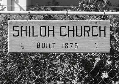 Shiloh Church Sign Birds Landing Ca Poster
