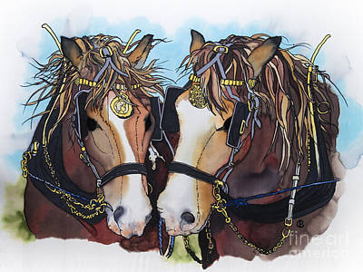 Shire Horses Poster by Paula Chapman