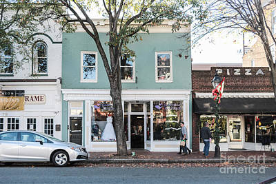 Shop Fronts Of Fredricksburg Virginia Poster by Thomas Marchessault