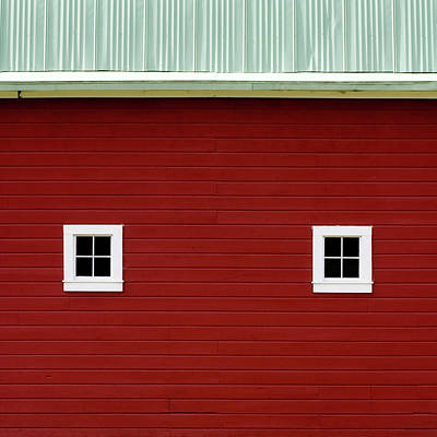 Side Of A Big Red Barn In The Palouse Poster