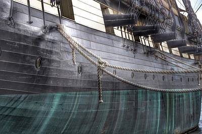 Side Of The Uss Constellation Navy Ship In Baltimore Harbor Poster by Marianna Mills