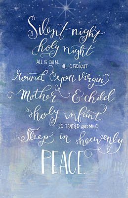 Silent Night Holy Night Poster by Nancy Ingersoll