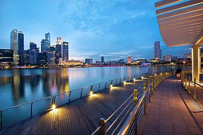 Singapore - Marina Bay Poster by Ng Hock How
