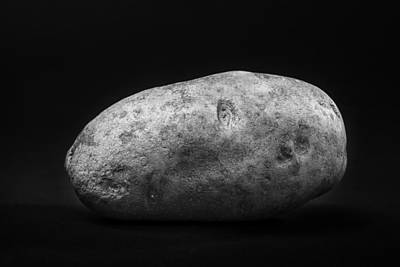 Single Russet Potato In Black And White Poster by Donald Erickson