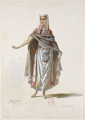 Sketches Of Ancient Armenian Costumes Poster