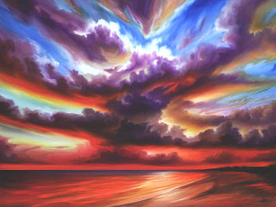 Poster featuring the painting Skyburst by James Christopher Hill