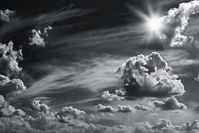 Sky,sun And Clouds Poster by Boyan Dimitrov