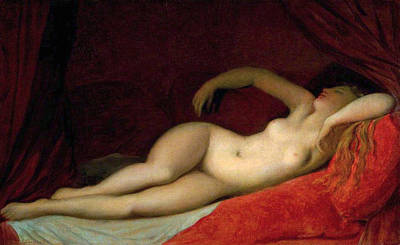 Sleeping Odalisque Poster by Jean-Auguste-Dominique Ingres