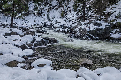 Snowy Merced River Poster by Garry Gay