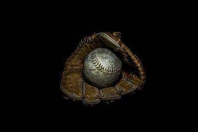 Softball And Glove Poster