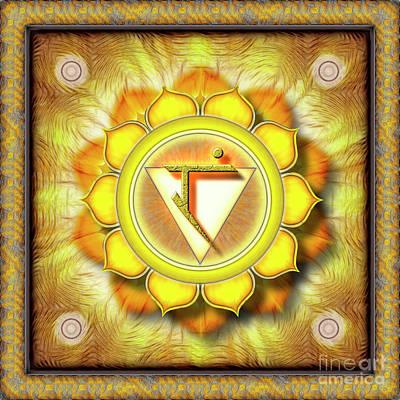 Solar Plexus Chakra - Series 1 Poster by Dirk Czarnota
